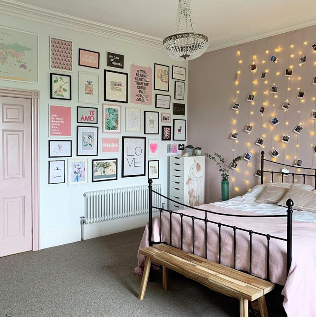 This gallery wall and light curtain were both quick jobs that didn't take long but made a massive difference to Ella's room.