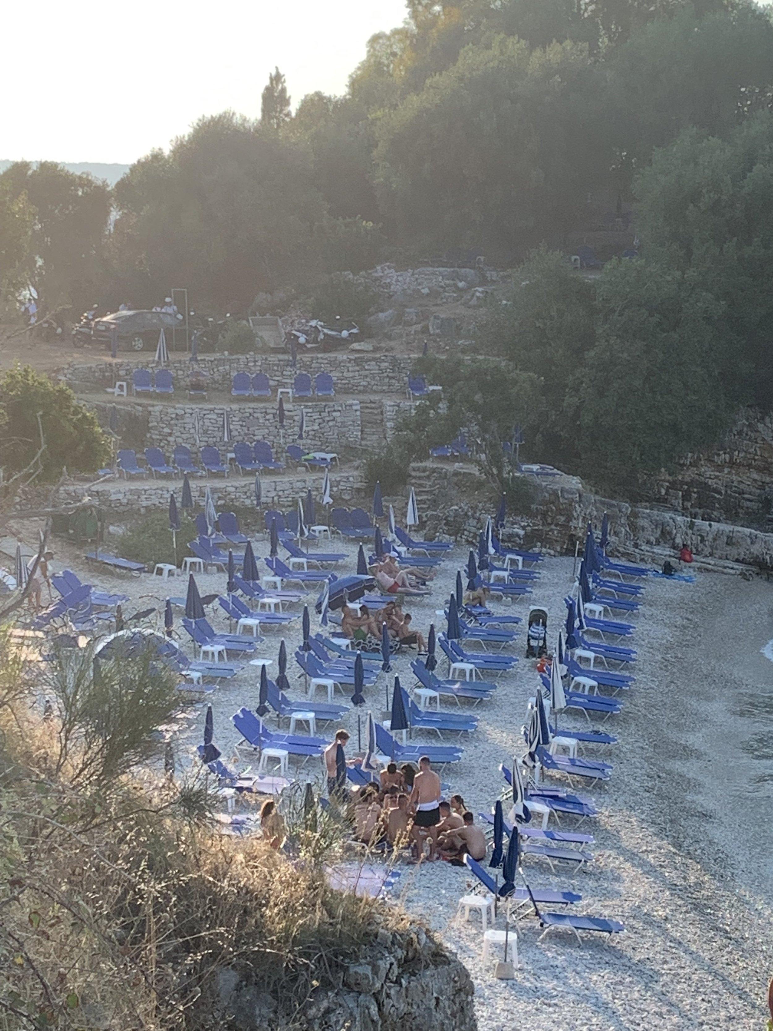Bataria Beach, ten minutes from villa.