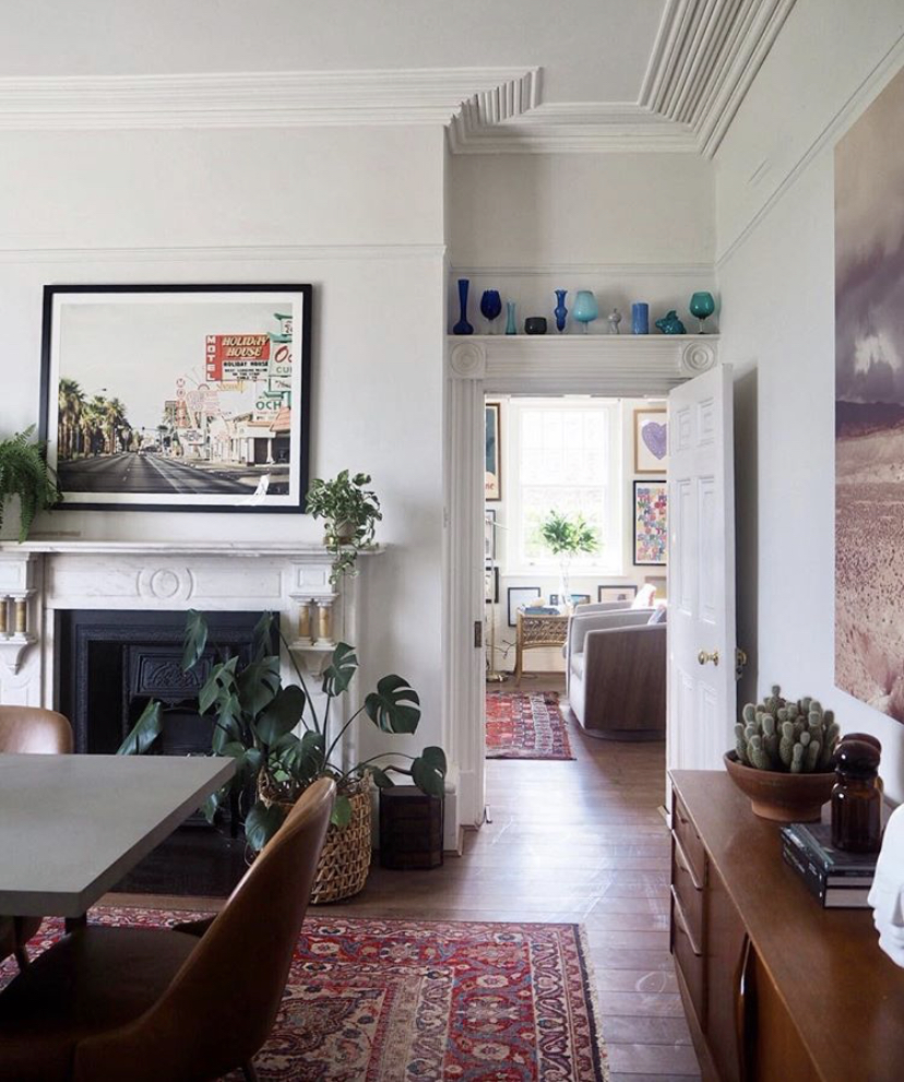 If you've got a fireplace, make the most of it as a focal point.