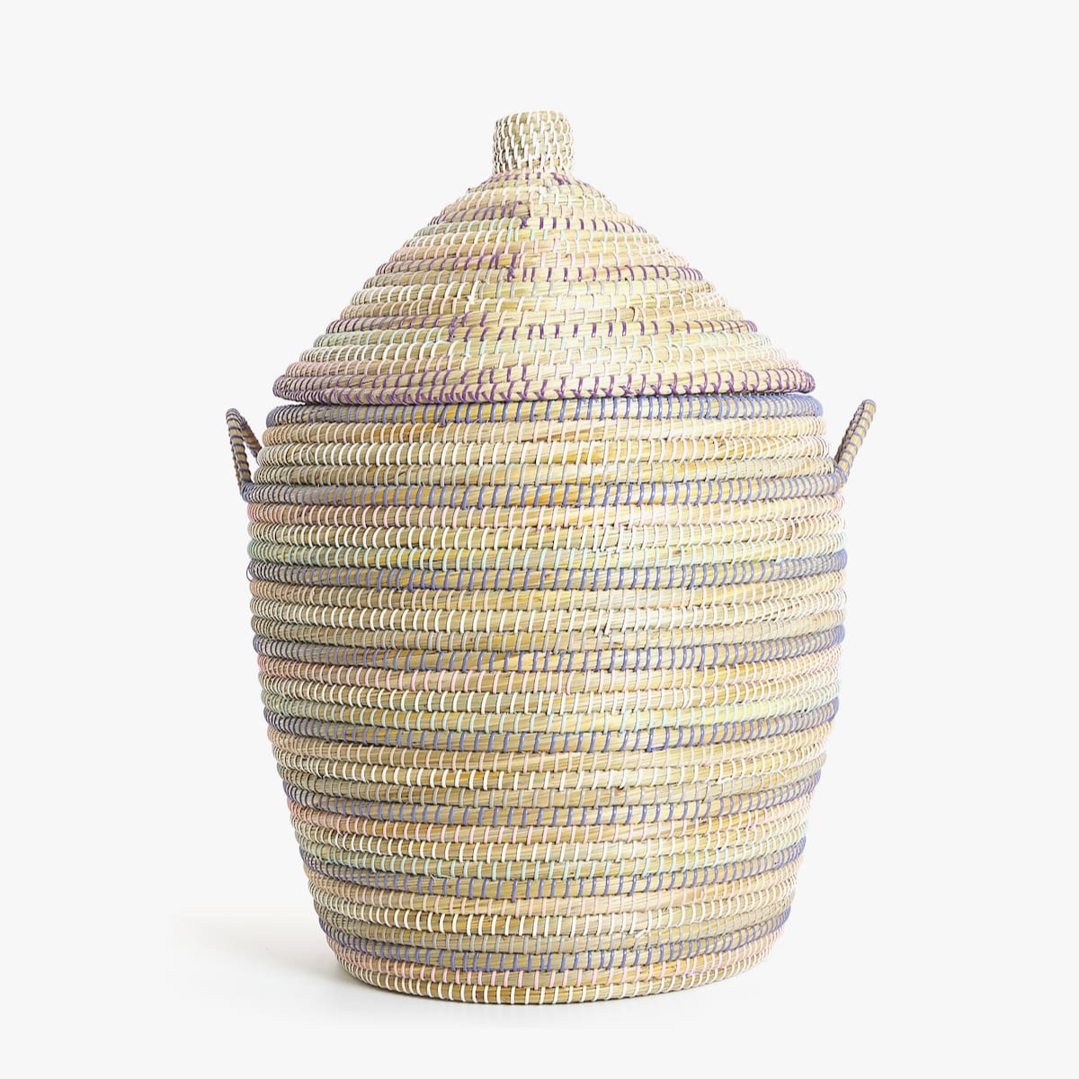 Multicoloured Braided Basket: Reduced to £19.99 from £69.99