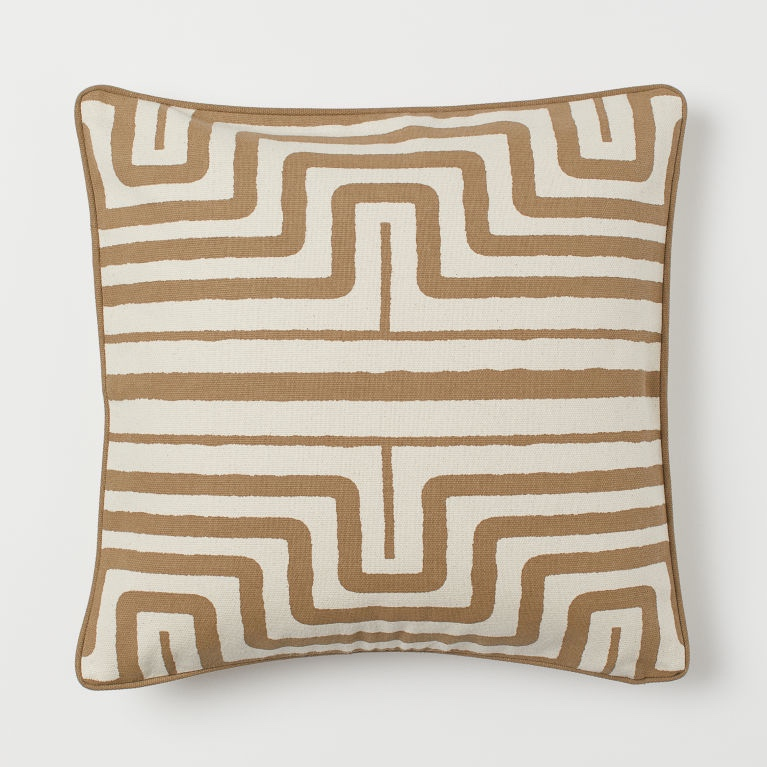 Beige Patterned Cushion: Reduced to £7 from £8.99