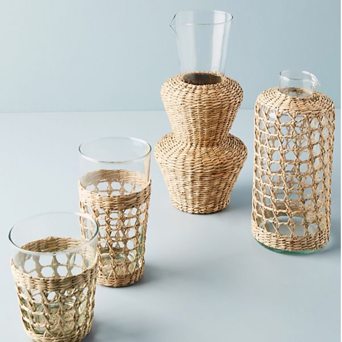 Seagrass Wrapped Carafe: Reduced from £36 to £21