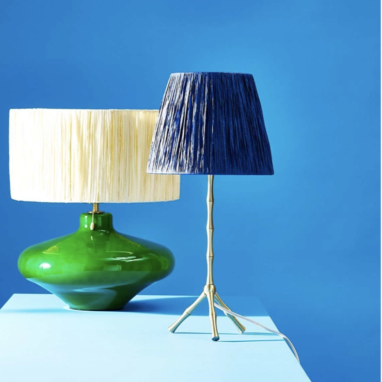 Raffia Bamboo Table Lamp: Reduced to £22 from £68