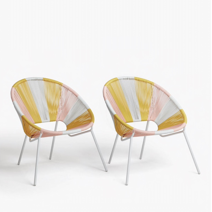 2 x Pastel Ombre Garden Chair: Reduced to £98 from £140