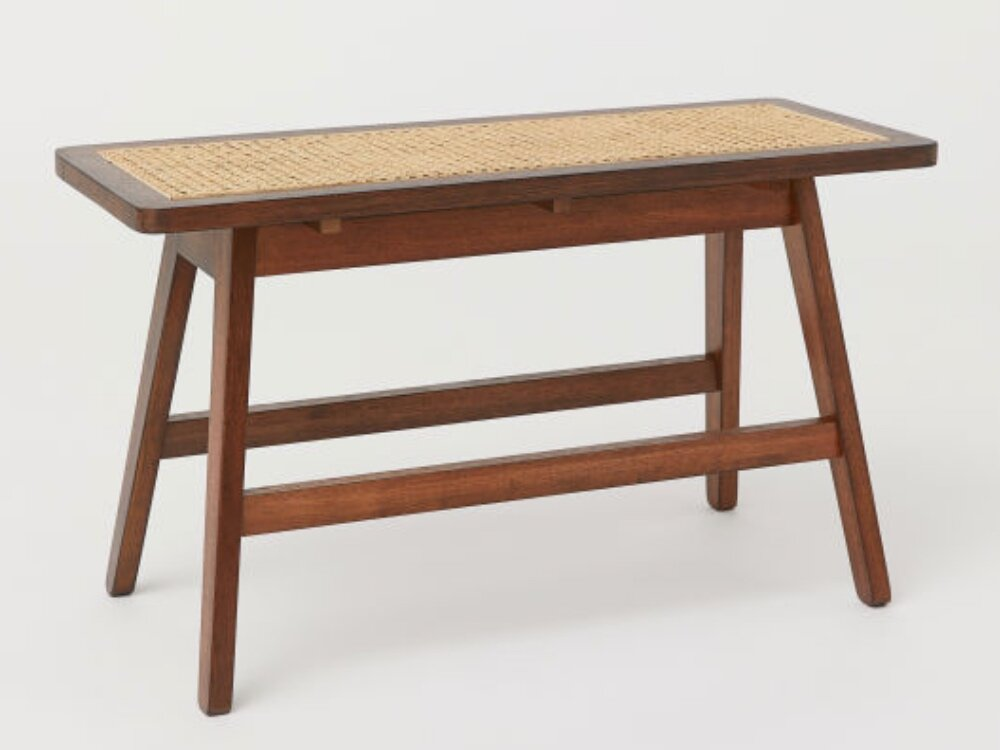 Rattan Bench, H&M £119.99