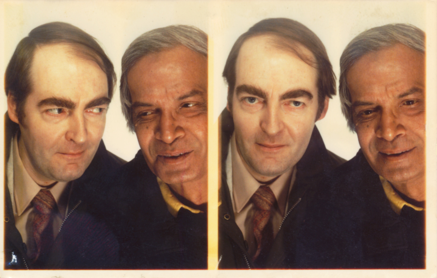 KEVIN WITH DEBEN BHATTACHARYA, TAKEN IN A PHOTO BOOTH IN GARE DU NORD, PARIS, 25 FEBRUARY 1982
