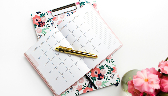 Schedule your cleaning tasks and you'll find it so much easier to stick to your cleaning routine.