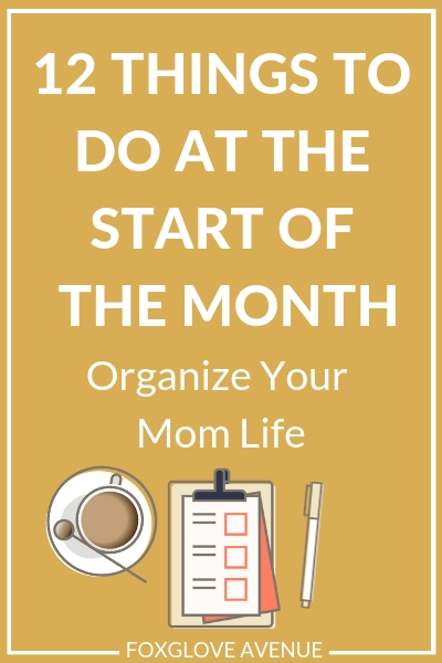 Getting organized is tough. But mama, you can start easy with these 12 things to do at the start of the month to organize your mom life.