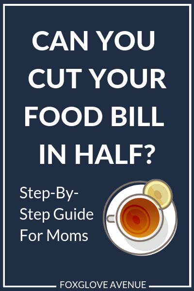 Trying to save money on groceries? Here's a helpful step-by-step guide to cutting your food budget. Perfect for moms who want to spend less on food.