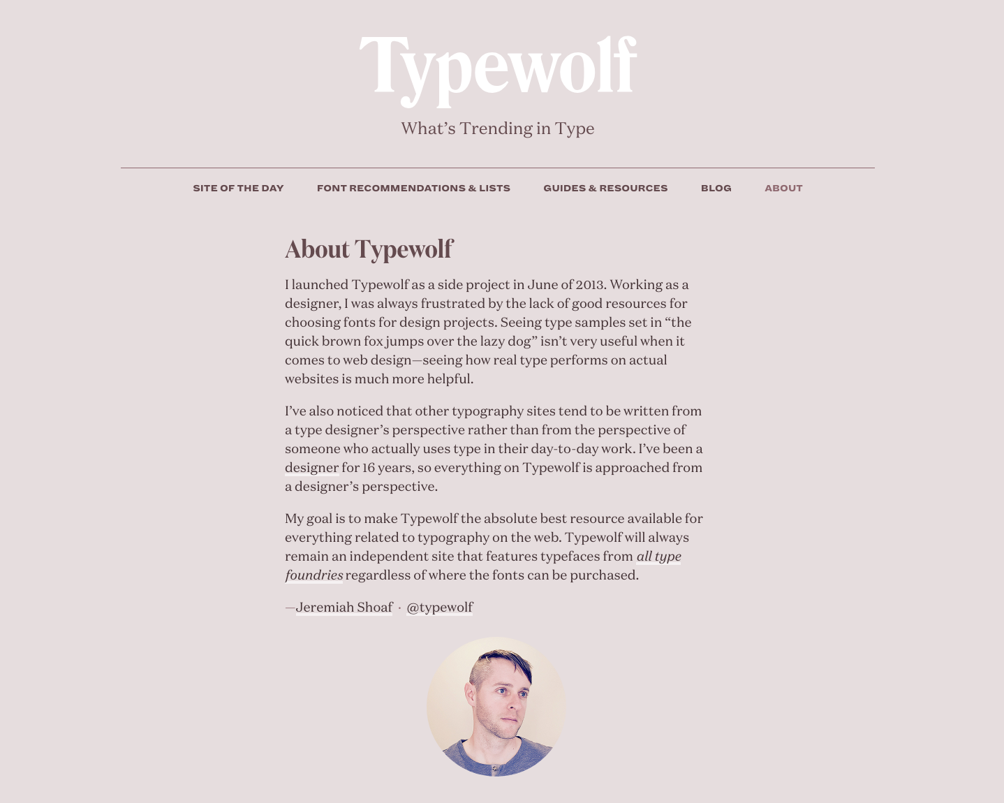 Typewolf uses 75-character lines
