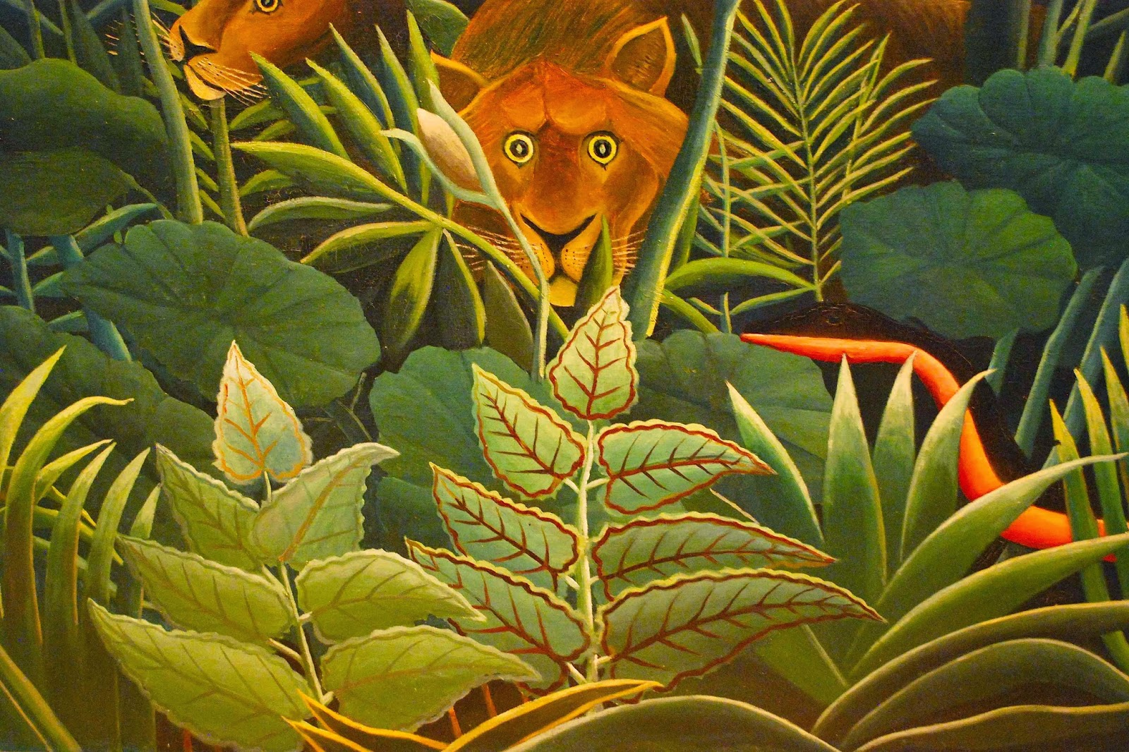 Detail from The Dream by Henri Rousseau, currently at MOMA, NYC.