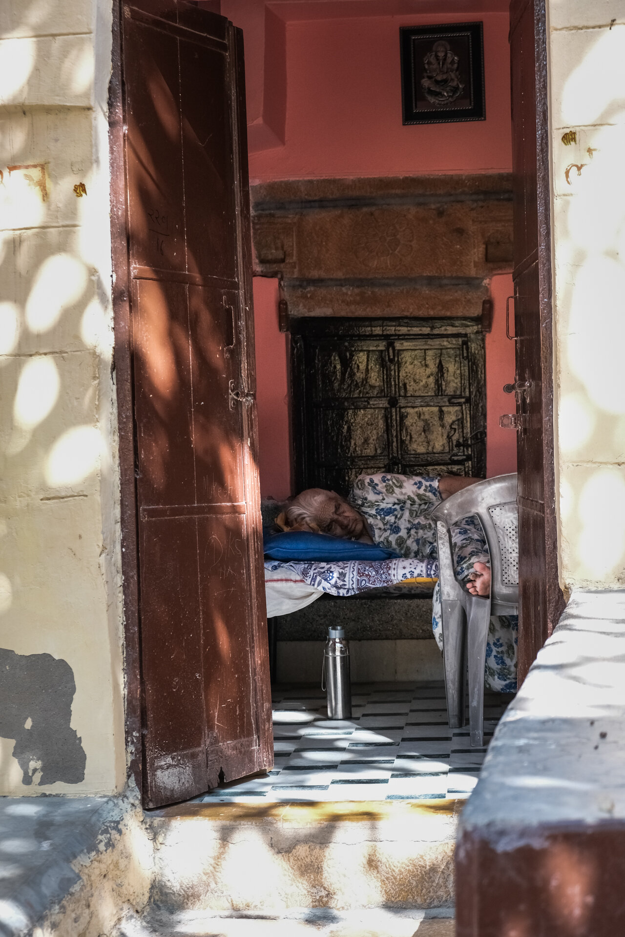 Brahmin lady asleep.