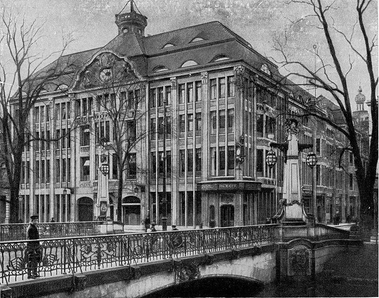 1909 год. Дюссельдоф. Girardethaus (фото из Википедии).
