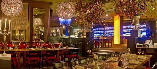 Стильный современный интерьер ресторана Meerbar, Дюссельдорф-Медиахафен