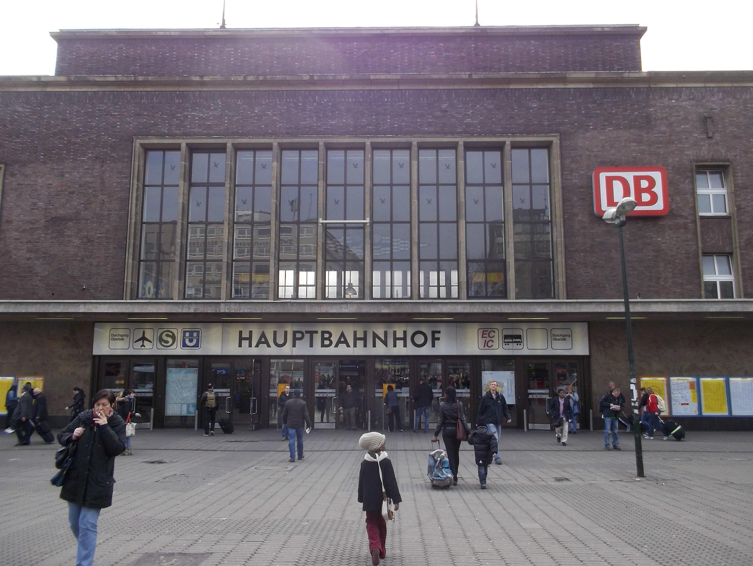 Здание дюссельдорфского вокзала