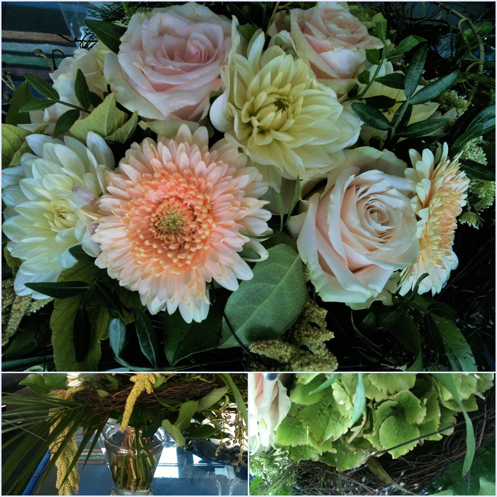 Приехала из Бохума с букетом цветов.