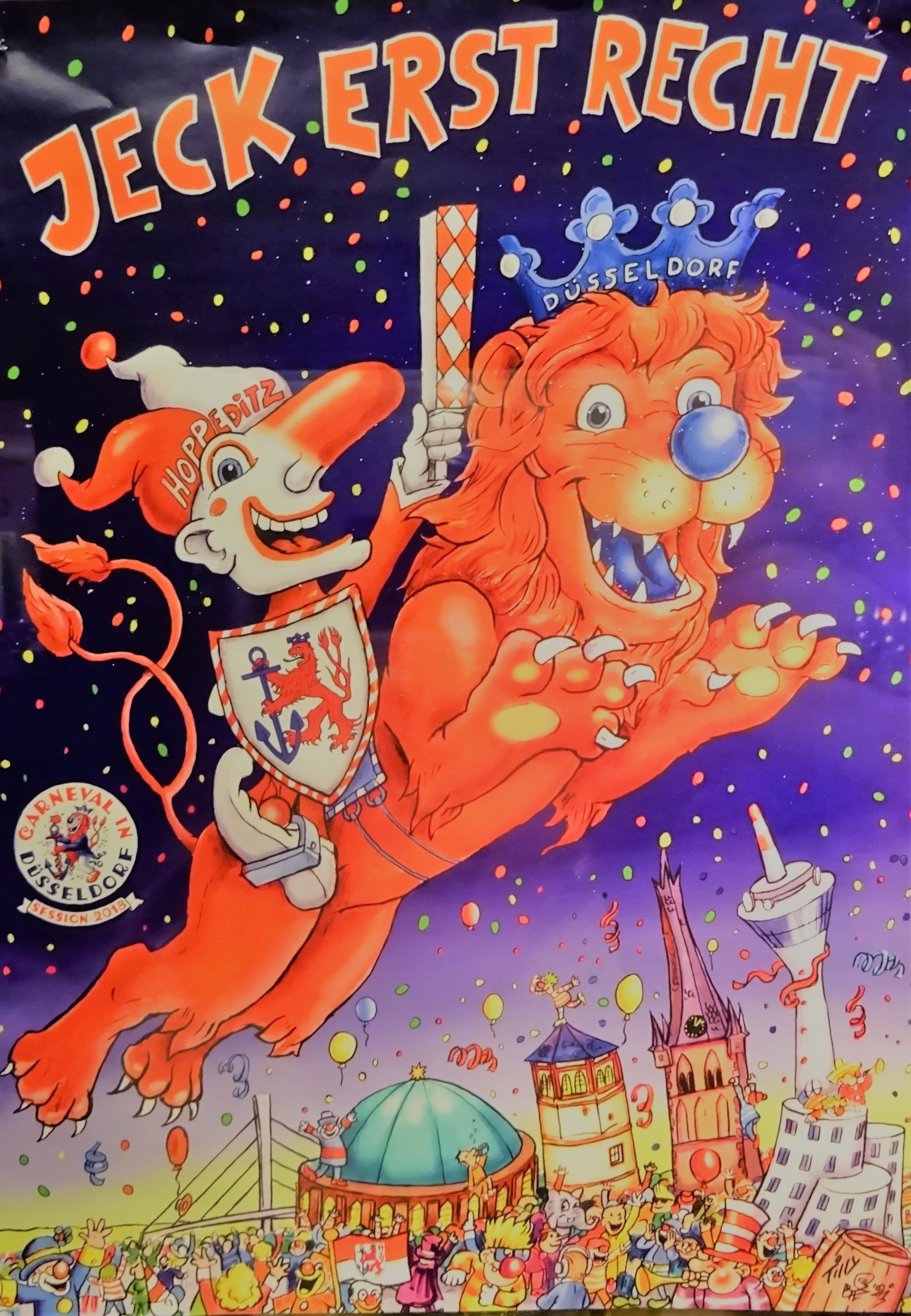 Жак Тилли нарисовал карнавальный Дюссельдорф 2018 года