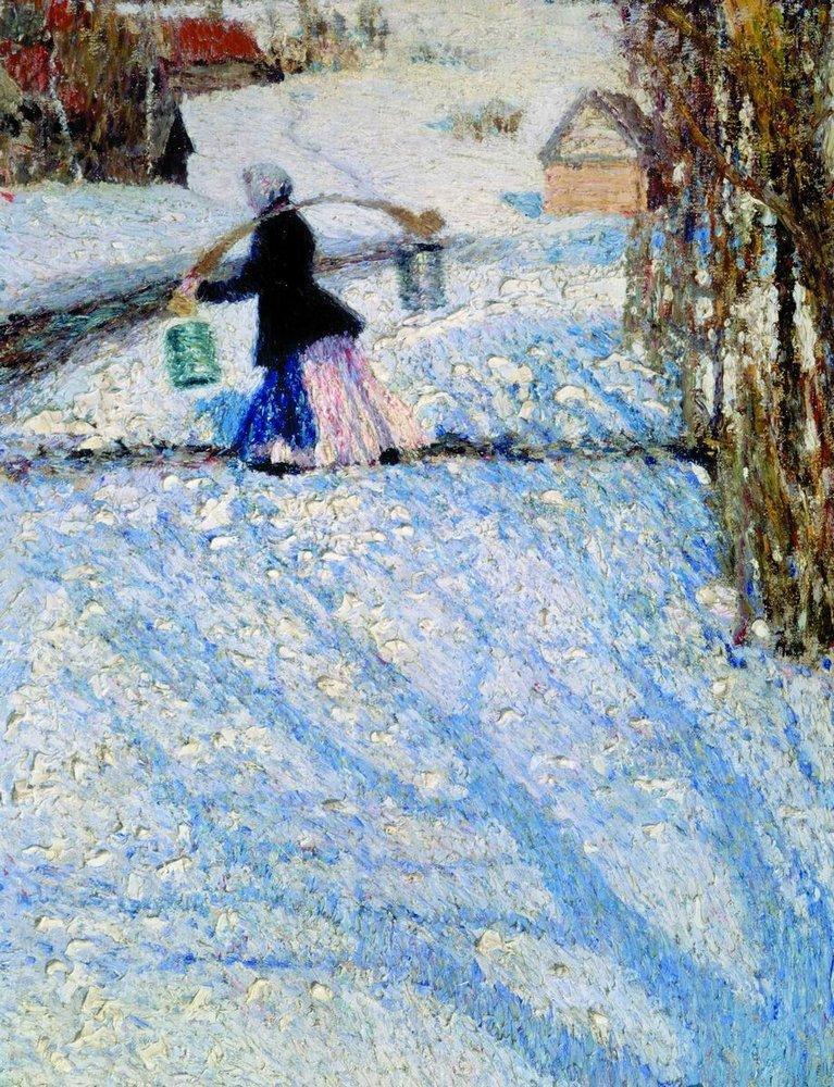 Была ли выставлена эта картина Грабаря 1904 года в Дюссельдорфе уже в 1904 году?