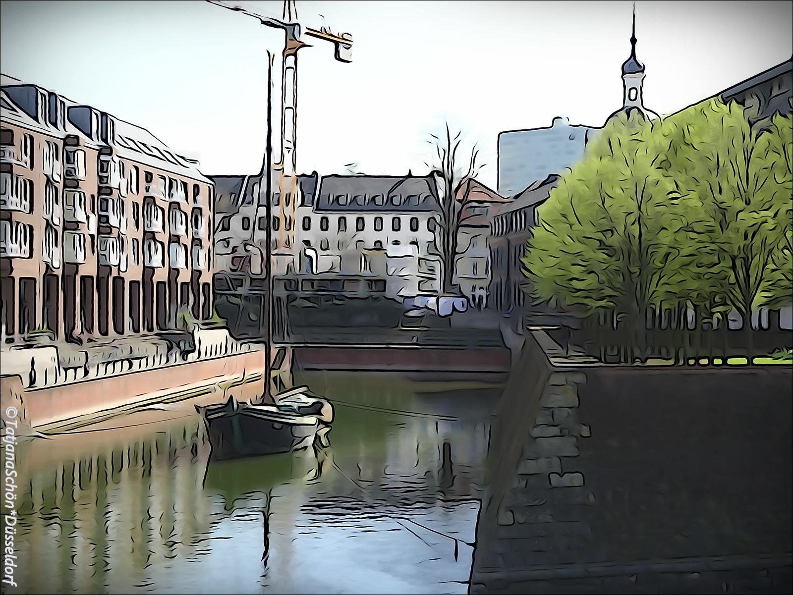 Нарисованная и бутафорская Старая гавань (Alter Hafen) с бастионом