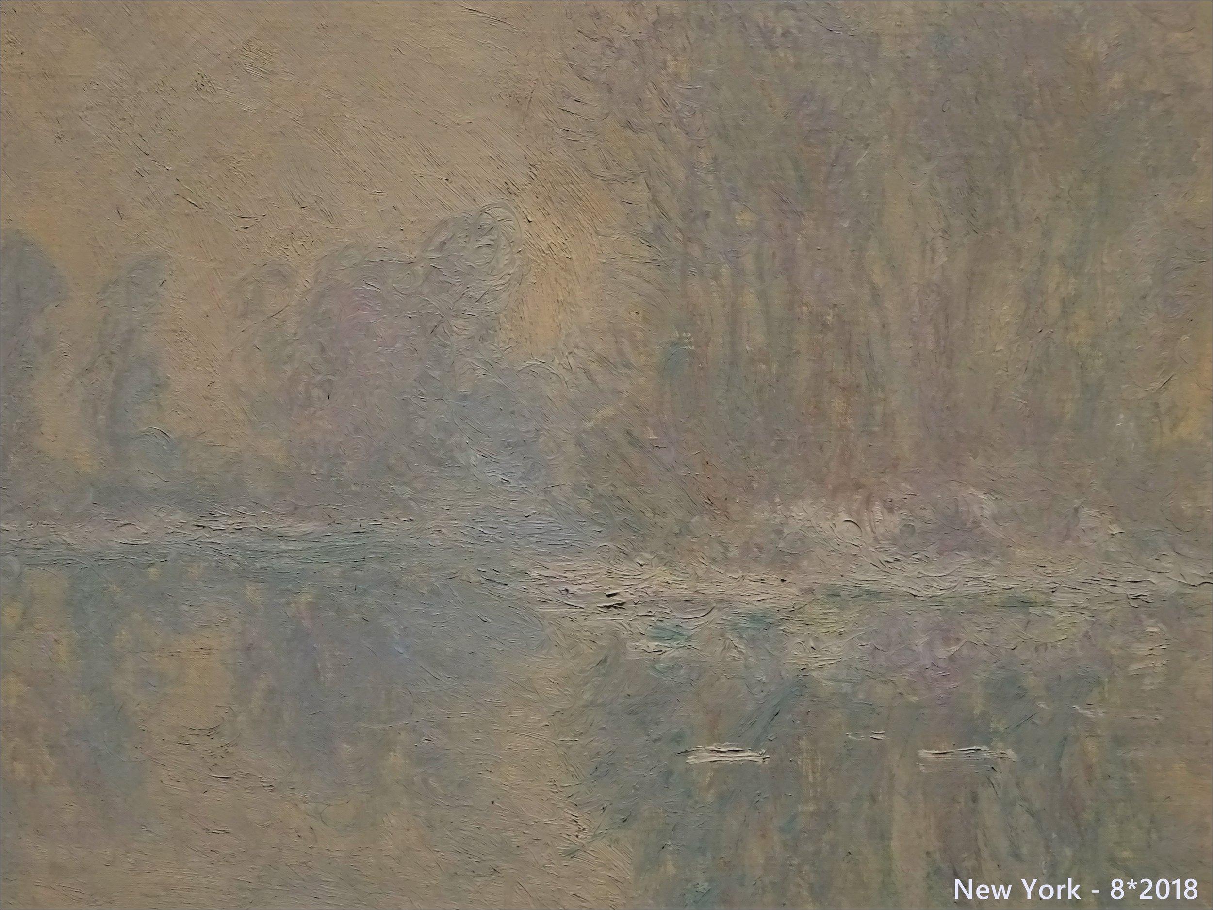"""Картина-льдина. Неожиданный """"белый"""" Моне. Река Сена, а ландшафт - наш-наш, рейнский!!"""
