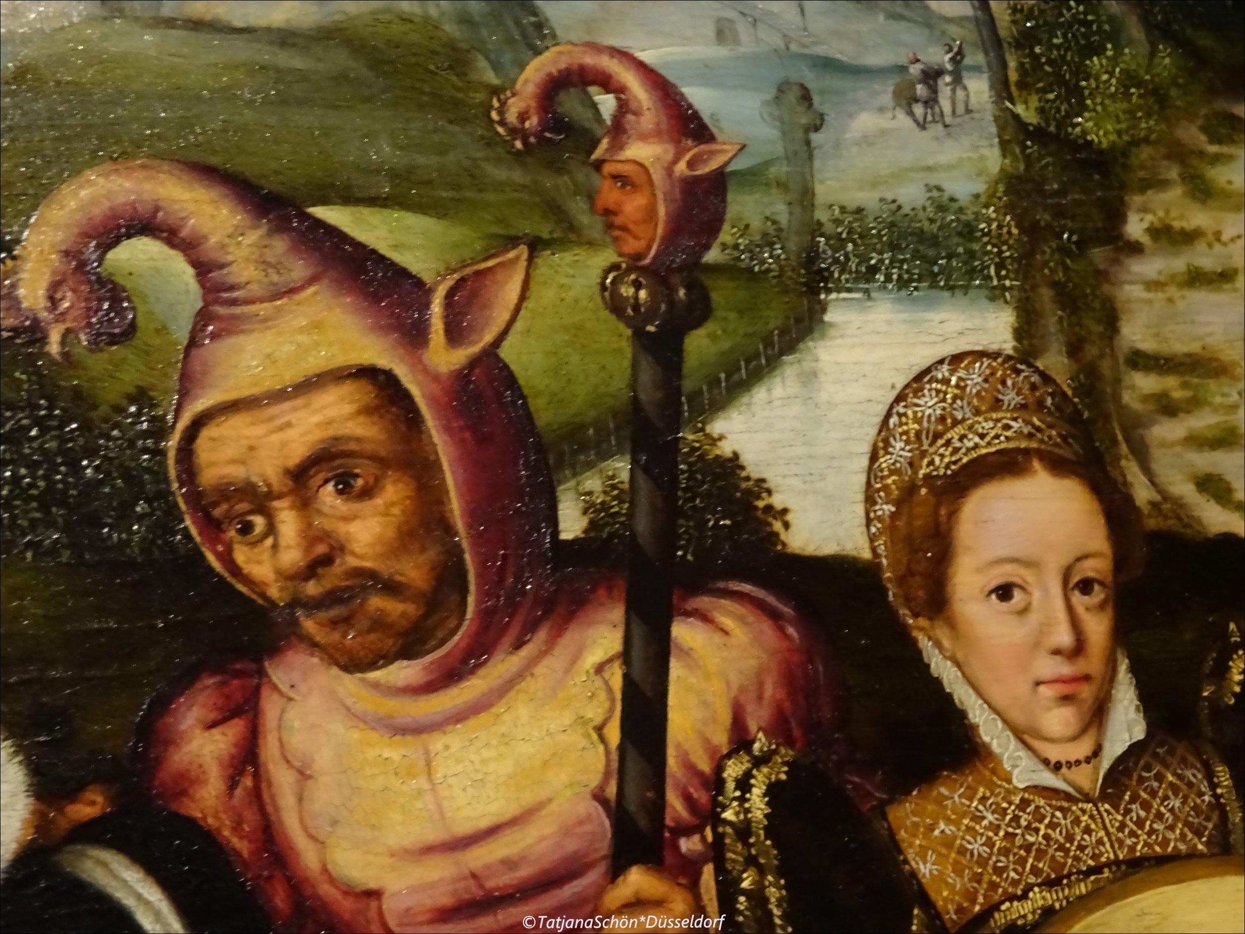 Шут с маротом - фрагмент картины, найденной в Антверпенском музее