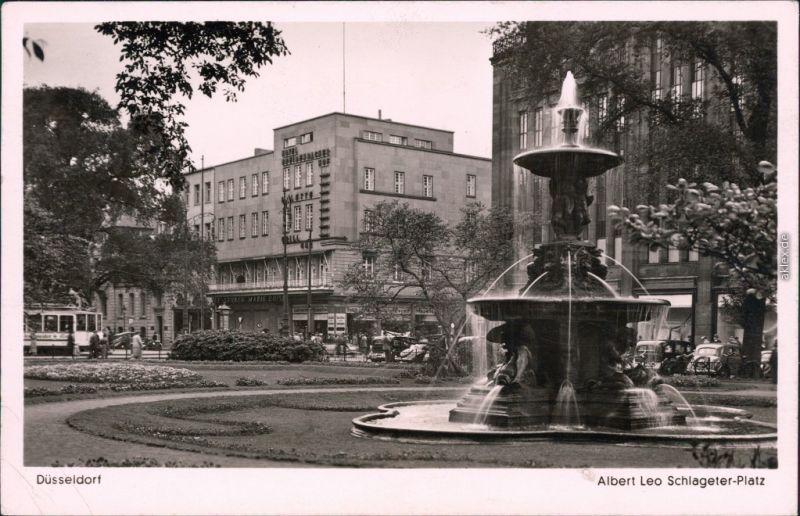 1942 год, Дюссельдорф, название площади в центре, которую мы знаем и показываем как Корнелиус-платц - Albert-Leo-Schlageter-Platz