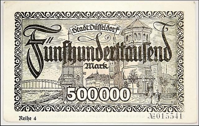 """Дюссельдорф, 1923 год, """"большие деньги""""."""