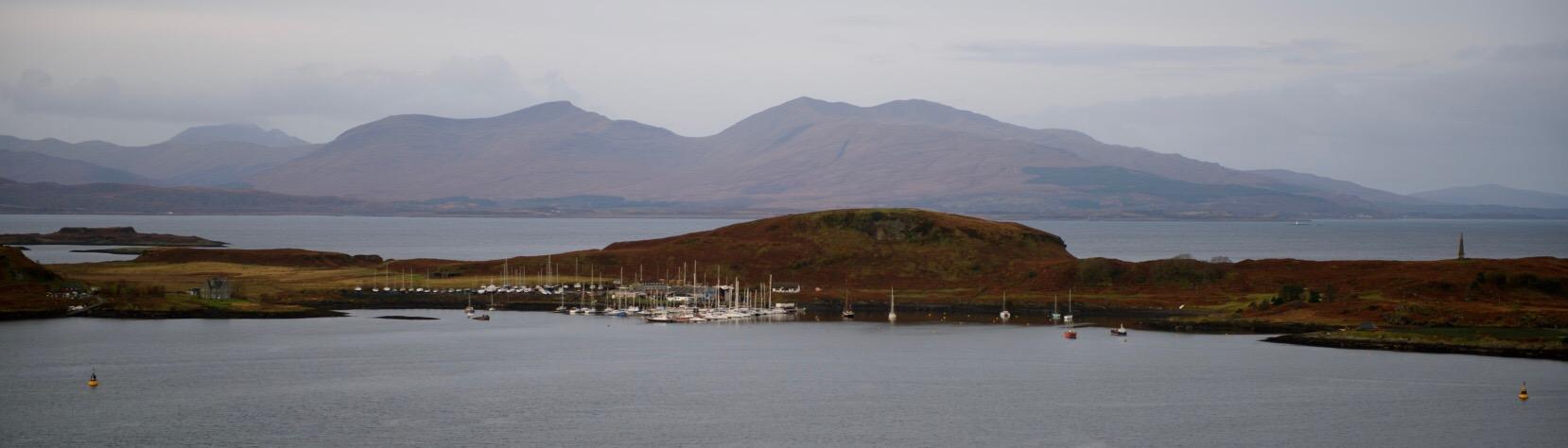 Isle of Kerrera off Oban Bay.