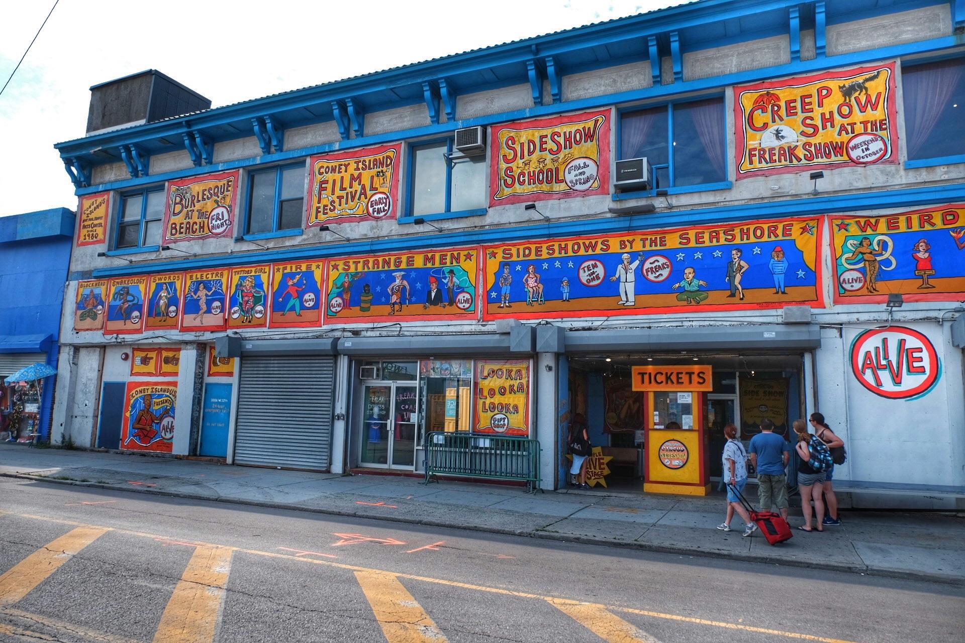 Coney Island, Circus Sideshow.