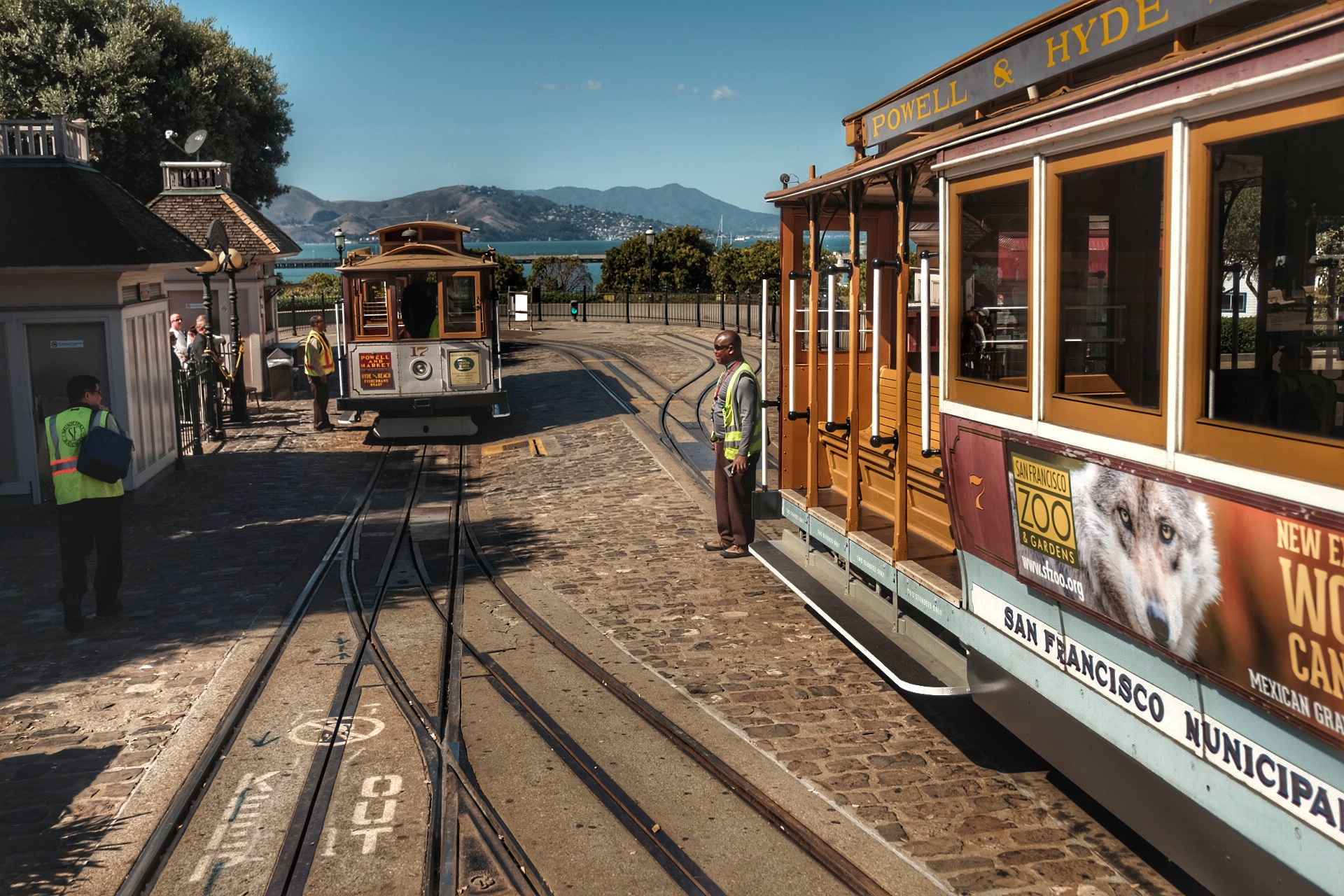 Cable cars of San Francisco.