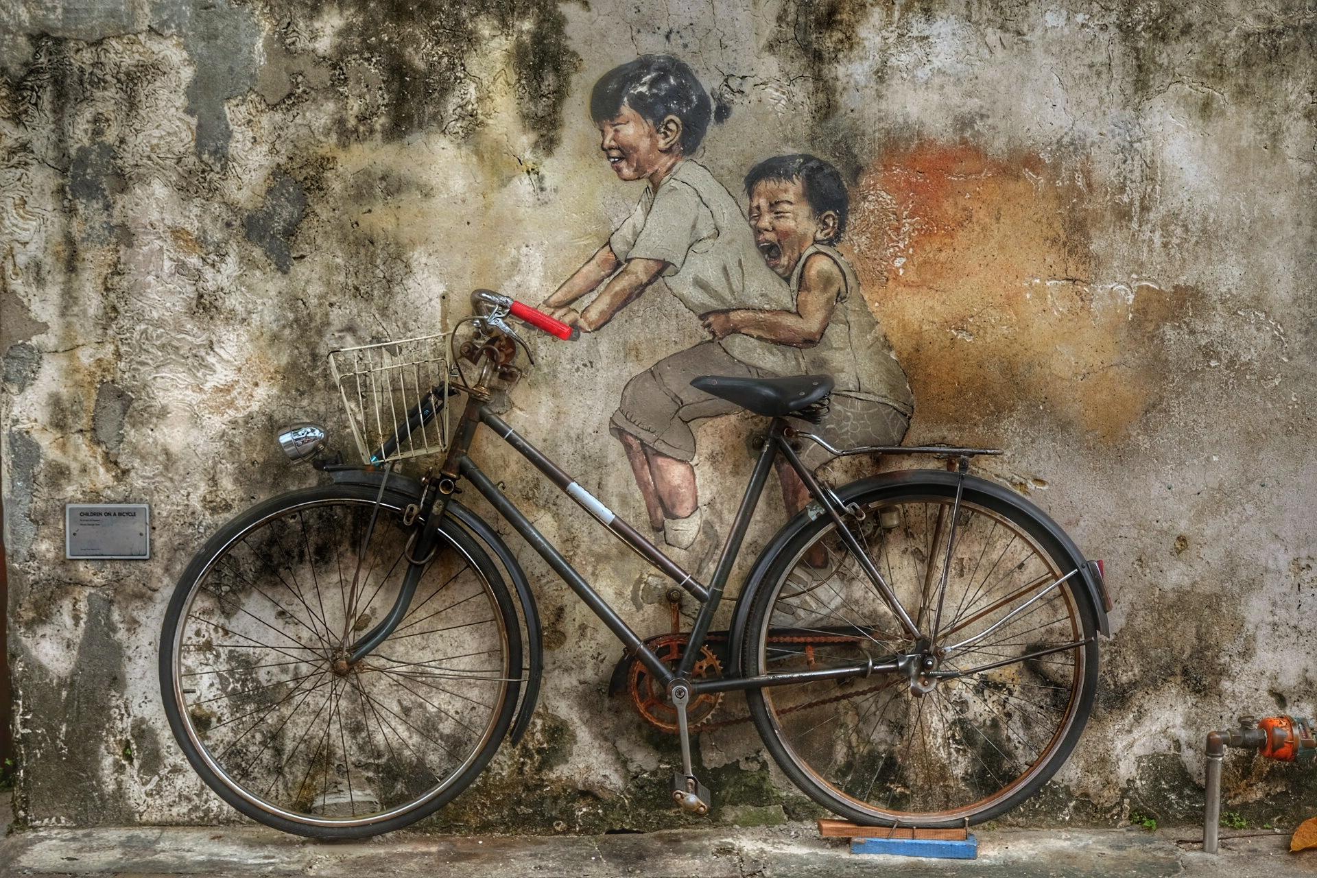 Penang's street art.