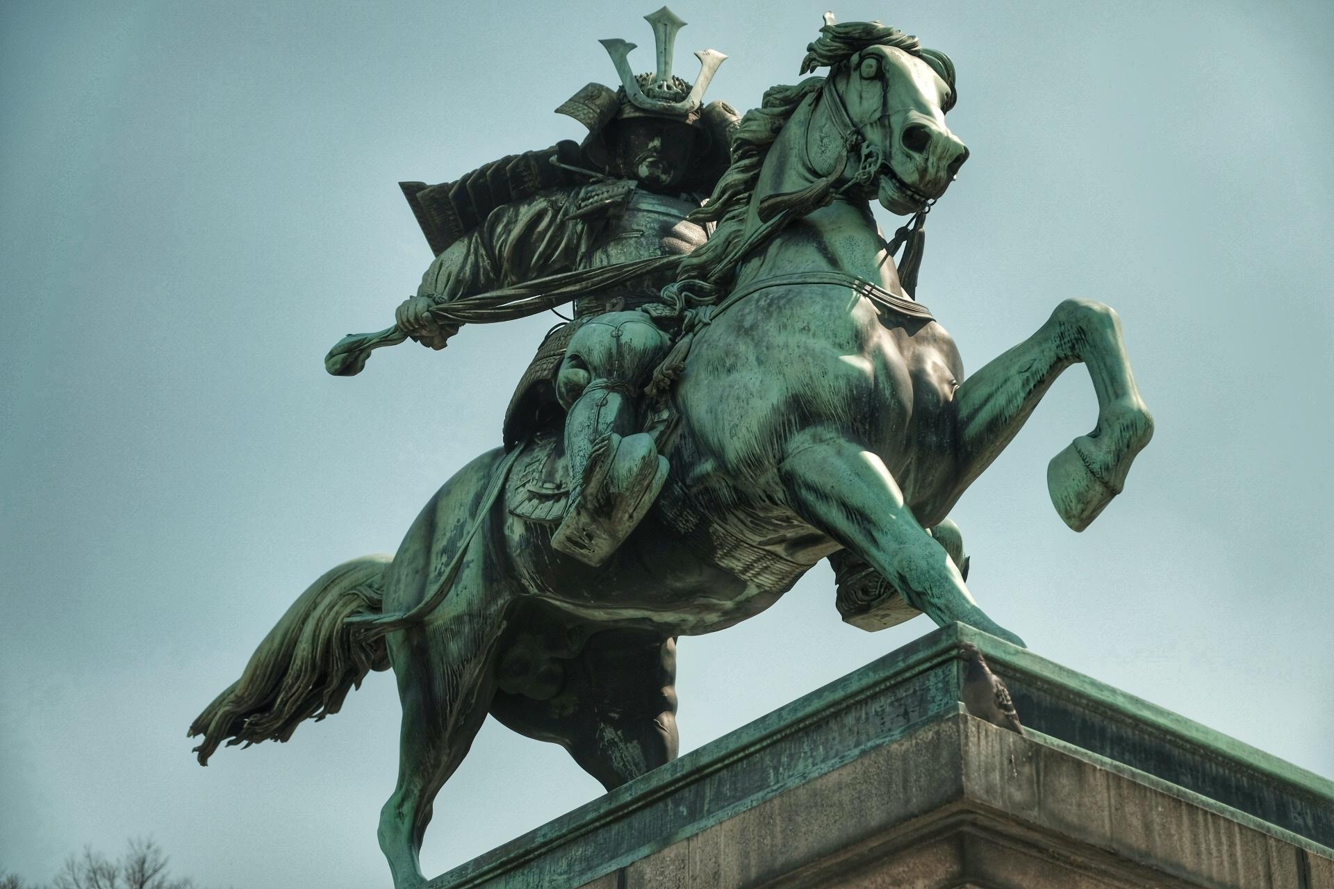Statue of Samurai Kusunoki Masashige outside Tokyo's Imperial Palace.
