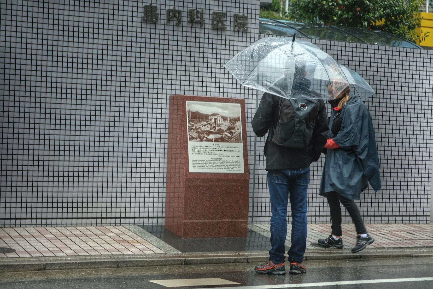 Ground zero where the atomic bomb (Little Boy) was detonated over Hiroshima