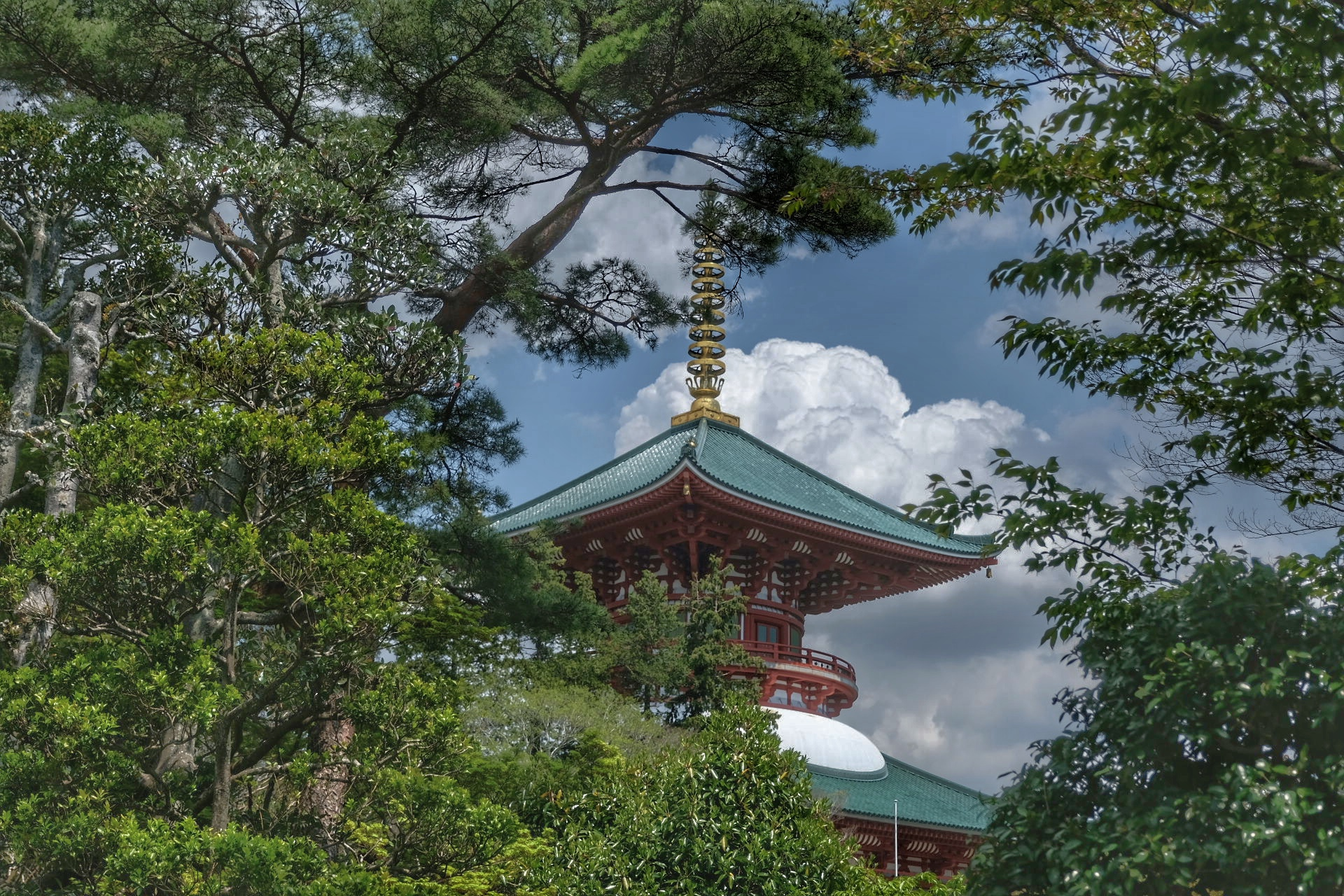 Pagoda at Shinsh�-ji temple.
