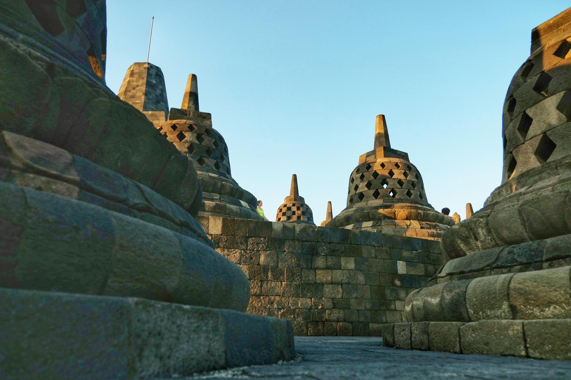 The Stupas of Borobudor temple.