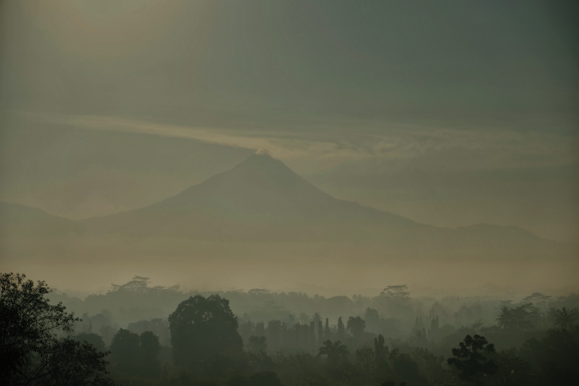 The view from Borobudor Temple.