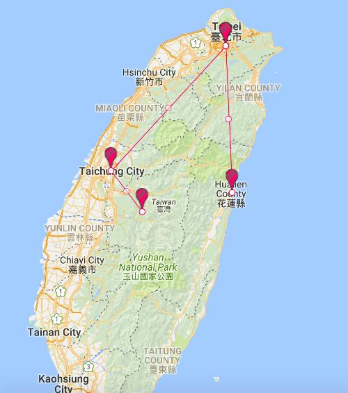 2 Week travel around Taiwan.