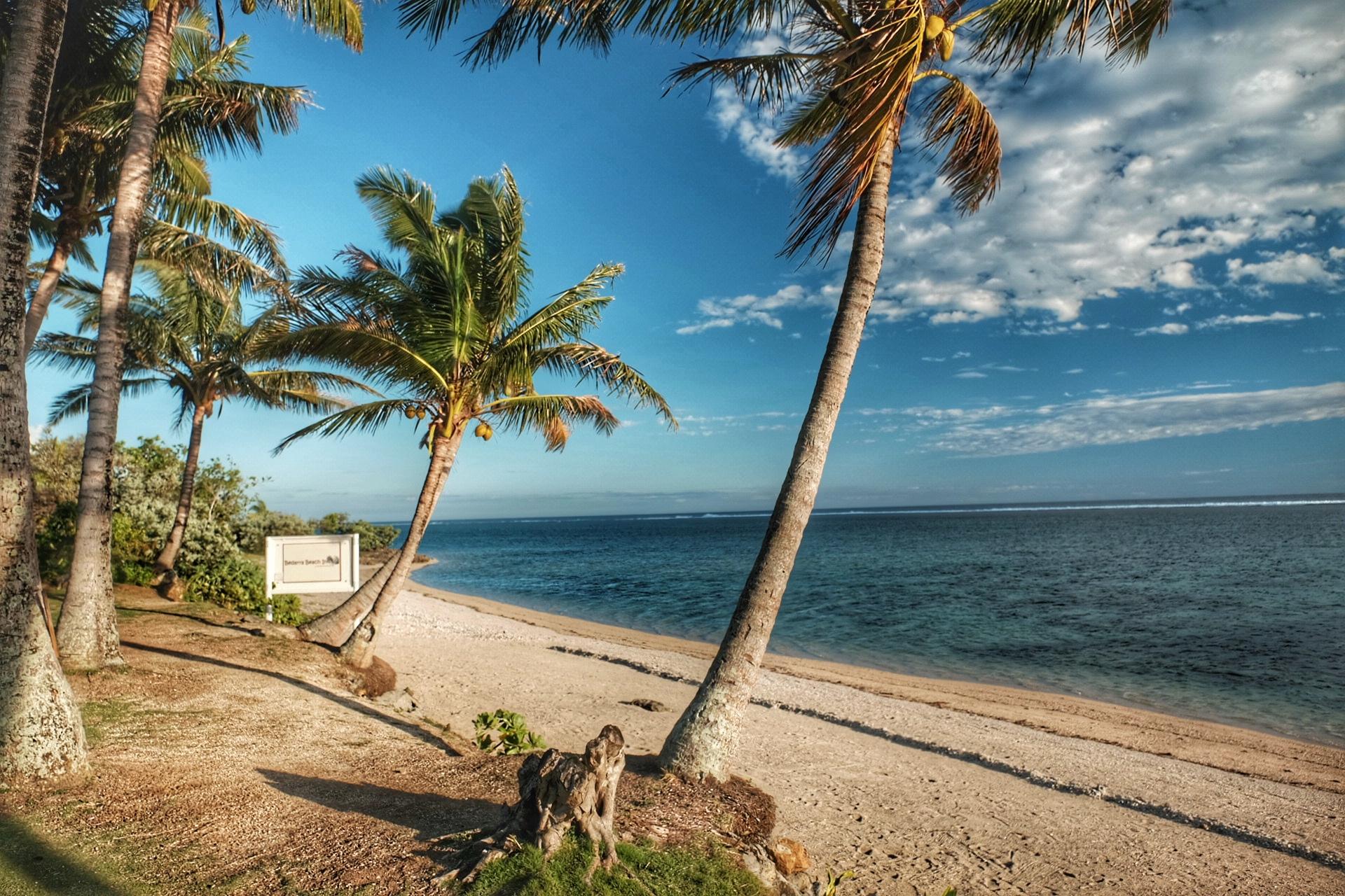 White Sandy Beach of Fiji.