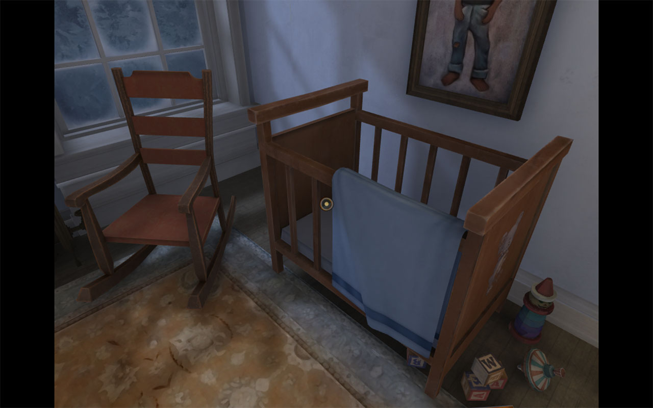 Dead Secret Circle--crib with toys (1)