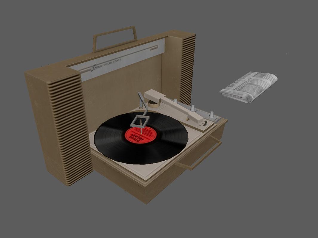 Dead Secret Circle--portable record player