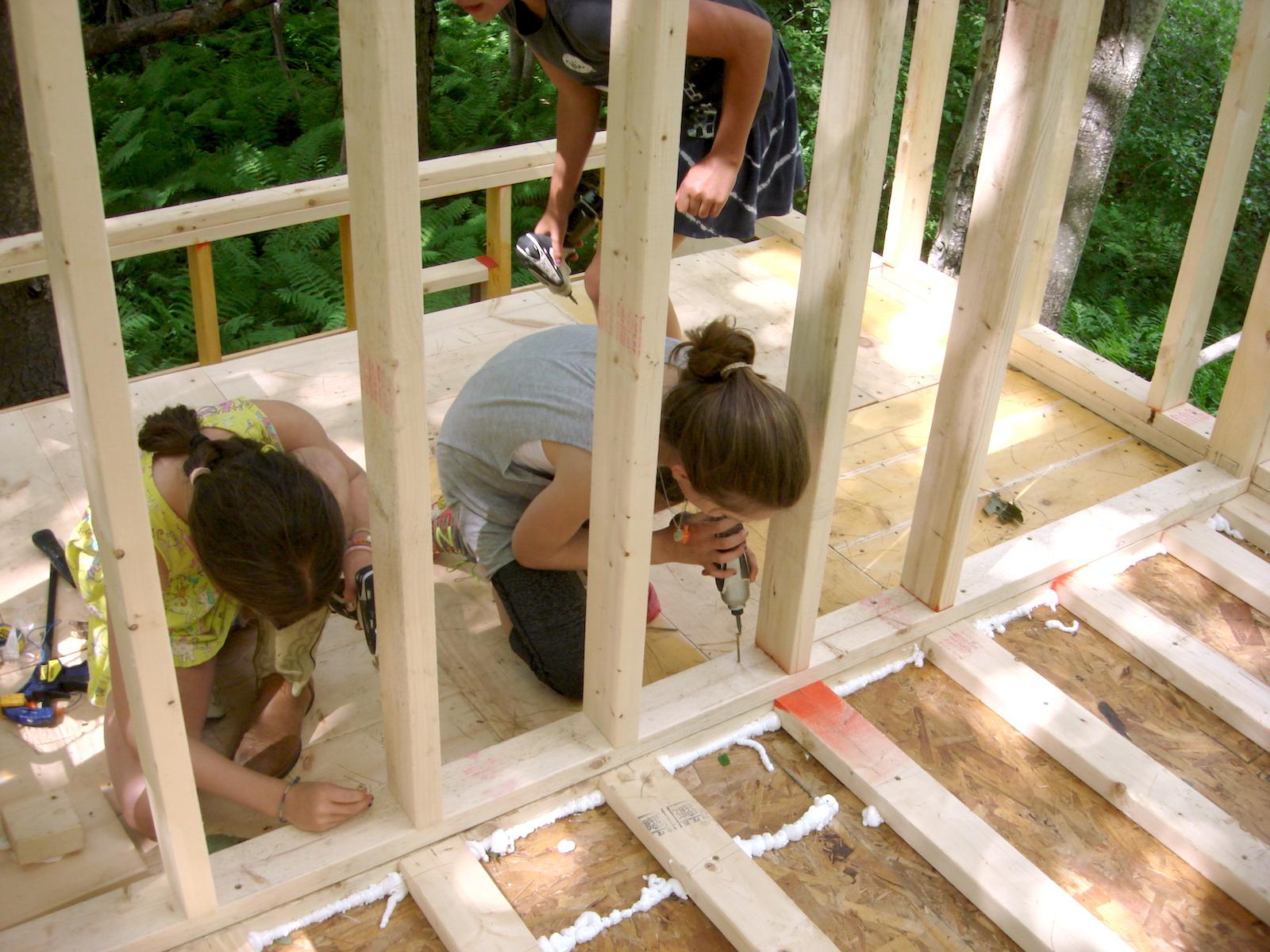 Installing loft wall frame