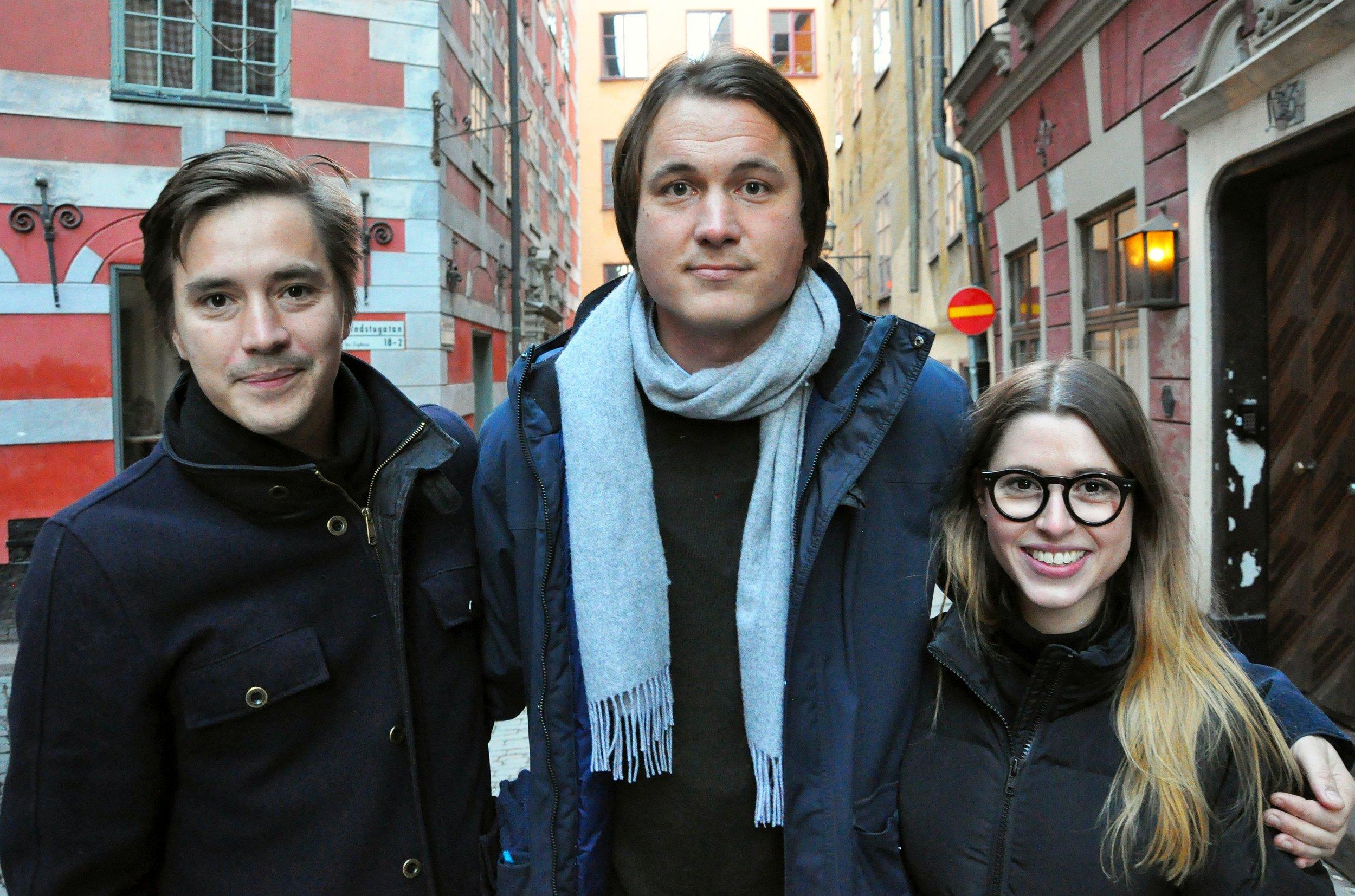Founders of Grönska: Robin Lee, Petter Olsson & Natalie de Brun Skantz. Picture taken by Hans Kronbrink.