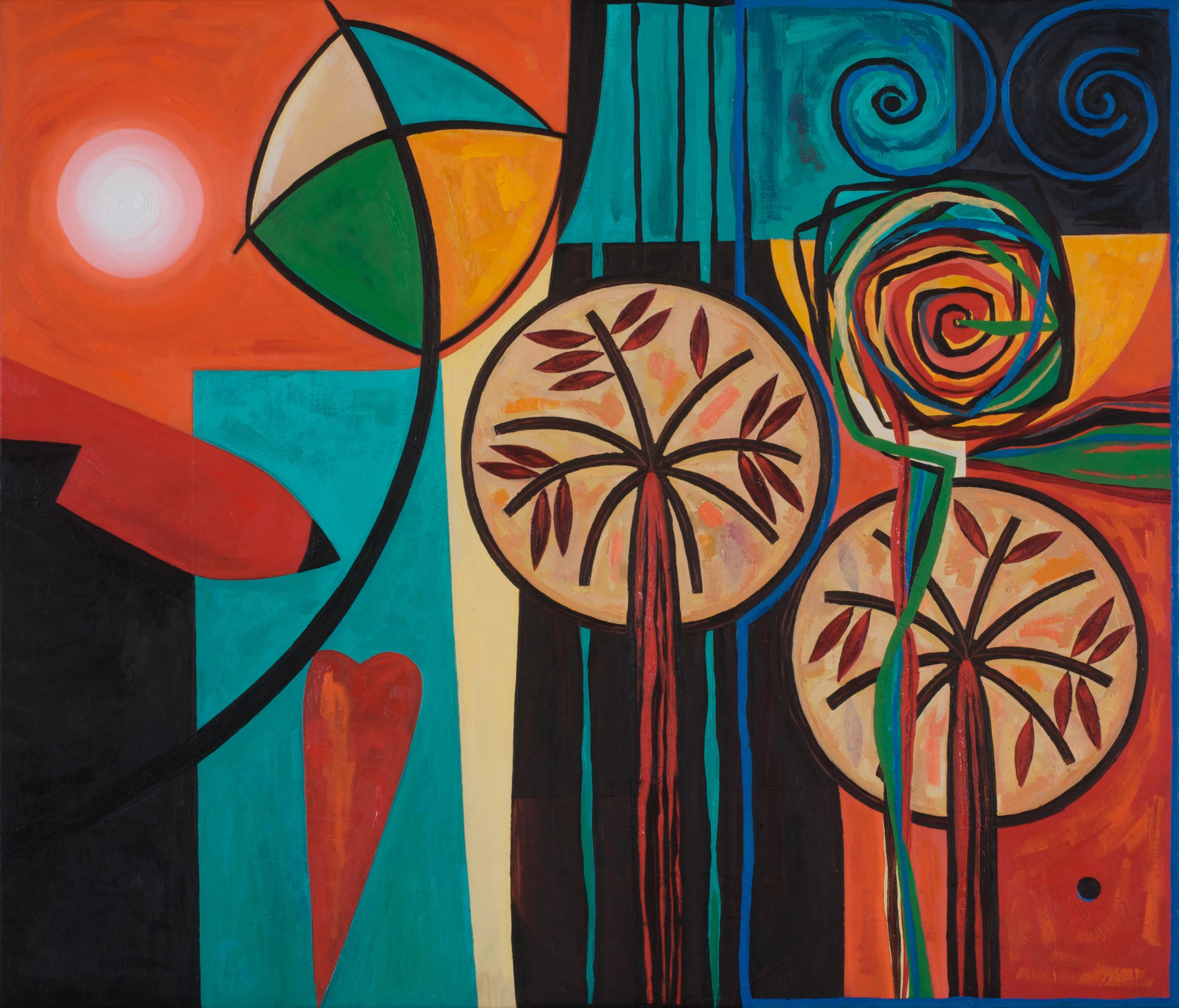 Tahira    Kites & Shattered Dreams  Oil on canvas 60x70cm 2008  Barjeel Collection  UAE