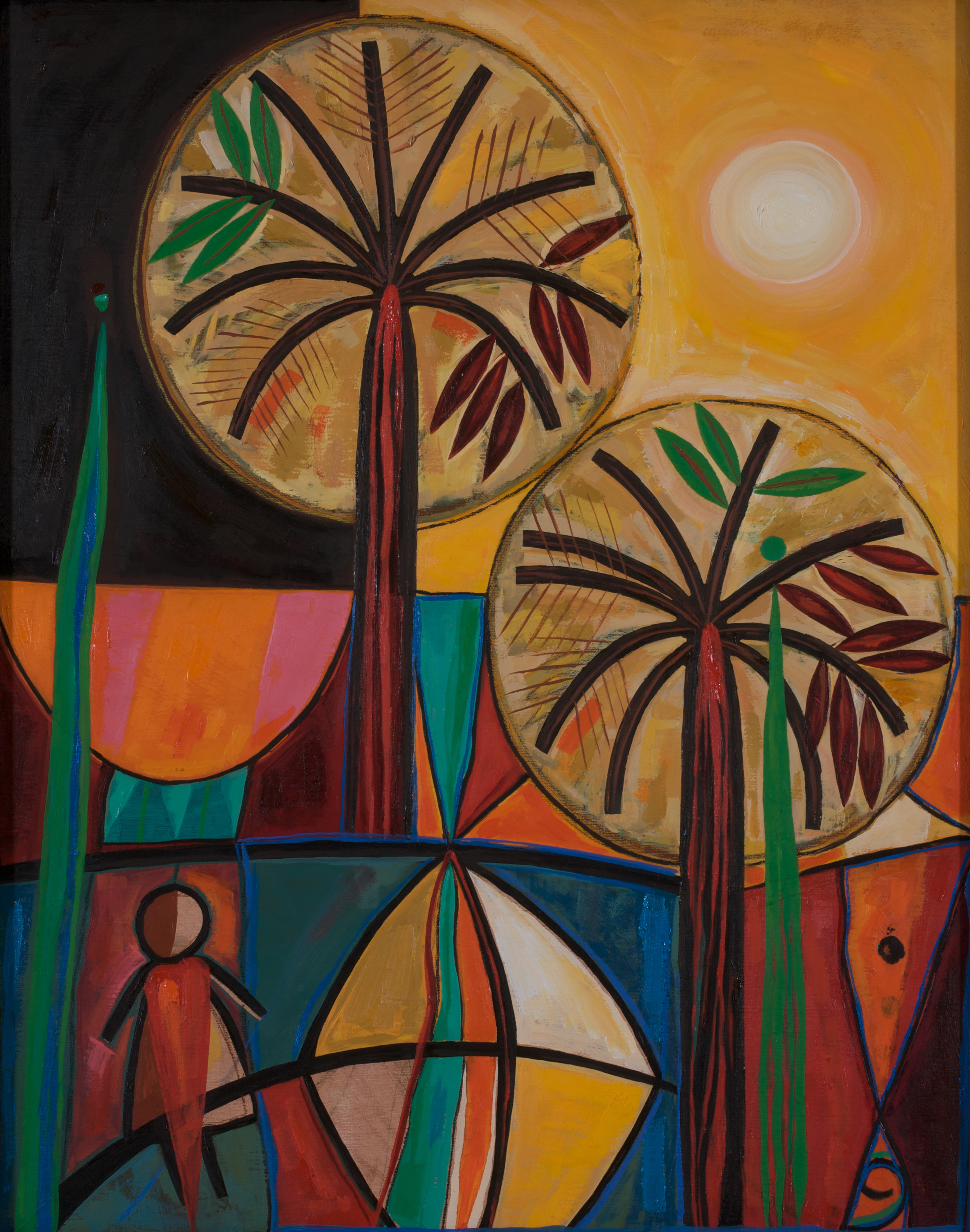 Khalida  Kites and Shattered Dreams  Oil on canvas 50x40cm 2008 Private Collection Amman Jordan