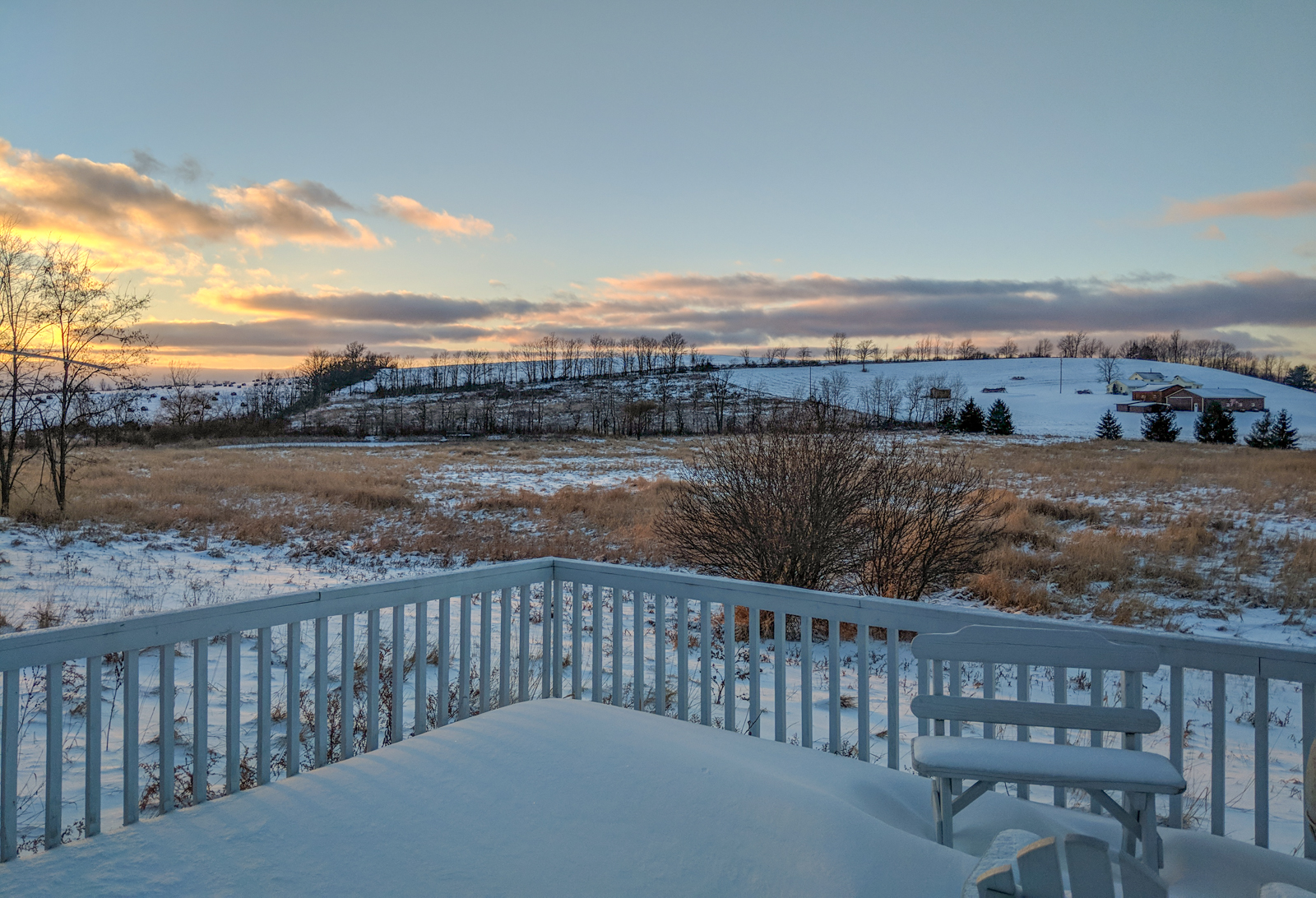 View from the back deck of the retreat center this winter