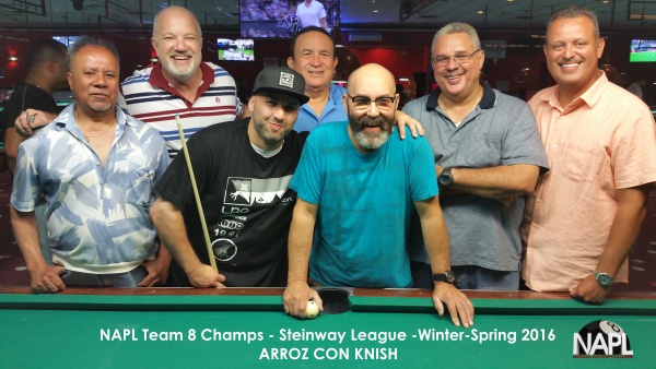 L-R: Juan Pellot, Neil Kleinman, Felipe Mercado, Jorge Torres,   Jose Quintana (Captain), Edwin Rivera, Rick Franco