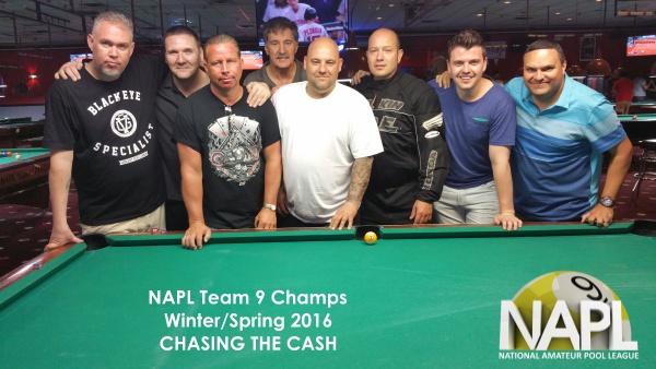 L-R: Jim Curti (Captain), Mike Flick, Ray Gardner, Danny Caliente, Steve Viras,   Joe Latonia, Brendan Traynor, Tony Robles