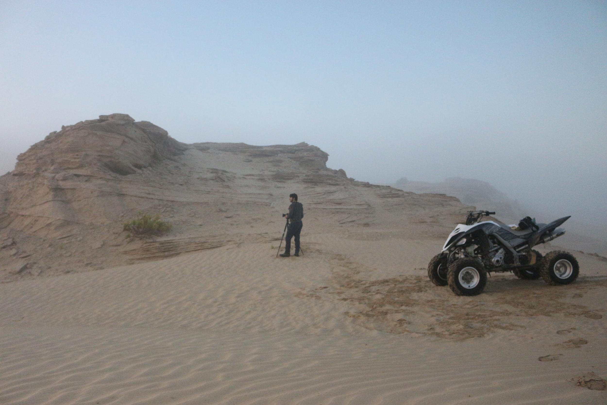 in Abu Dhabi desert