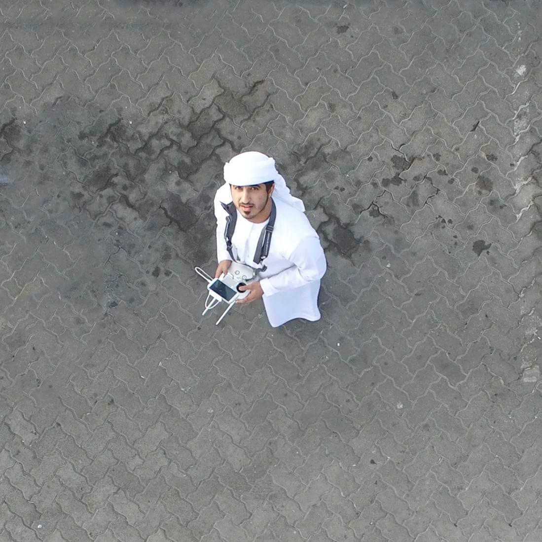 Take aerial shot in Abu Dhabi