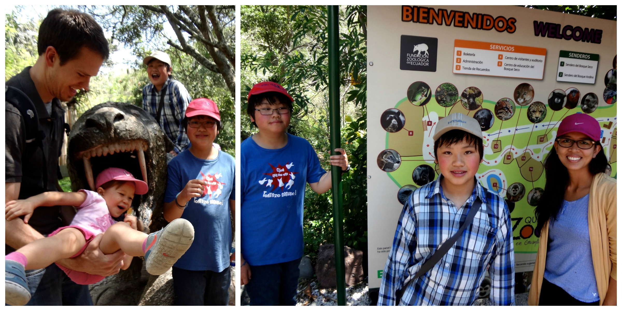 May 2013 - We took Sam & Johnson to the Zoo   in   Guayllabamba, Ecuador.